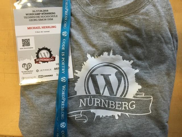 Das passende WordCamp T-Shirt darf natürlich auch nicht fehlen
