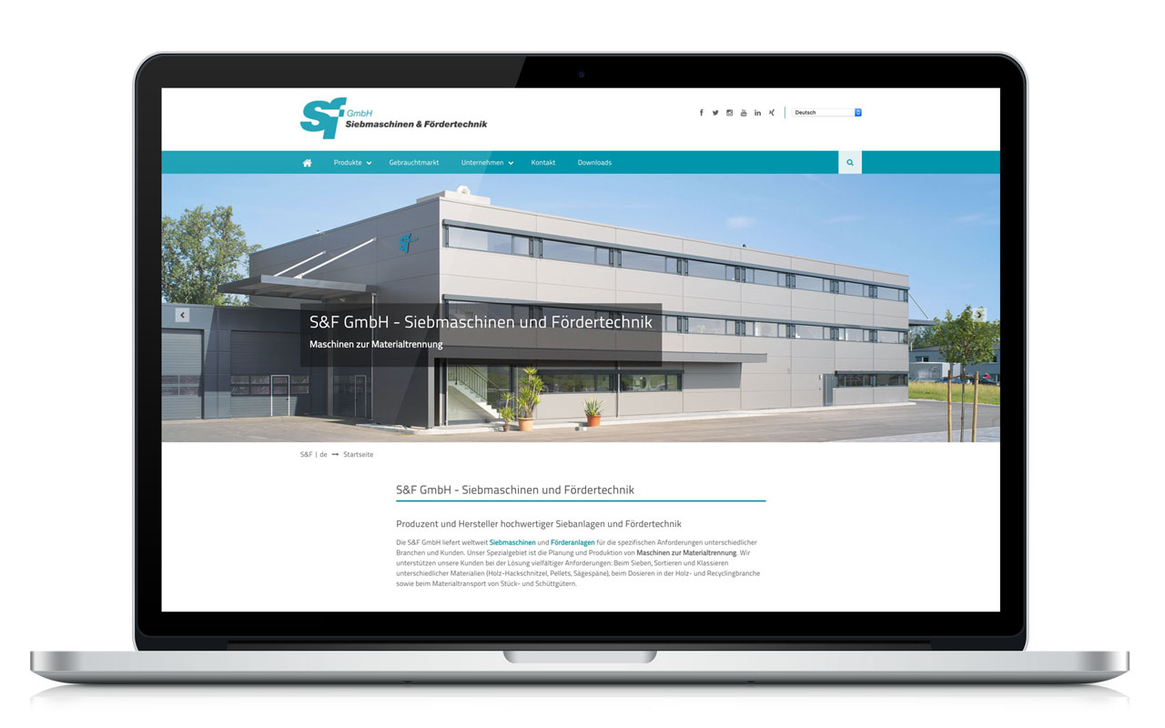 Contao Website S&F GmbH