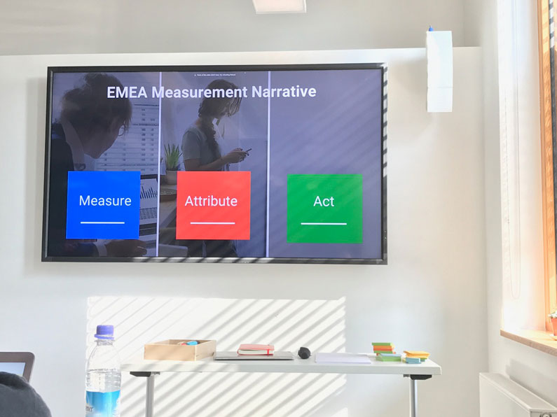 Measure - Attribute - Act Themen beim Workshop Measurement & Attribution