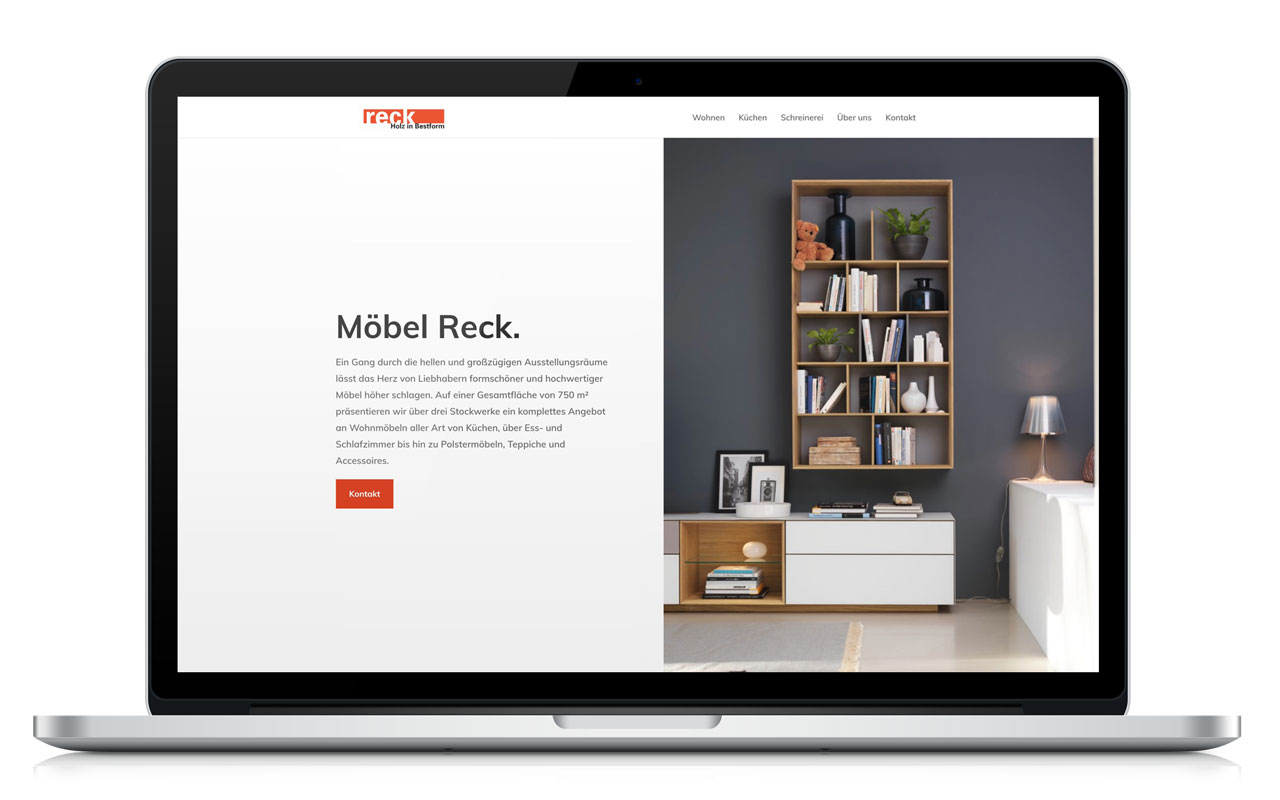 WordPress Website von Möbel Reck