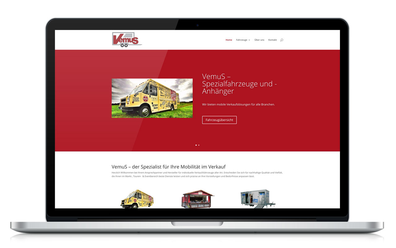 WordPress Website VemuS GmbH