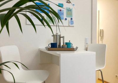 Kaffeetheke vom Schreiner für kurze Pausen